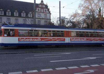 Straßenbahnwerbung 80er Jahre