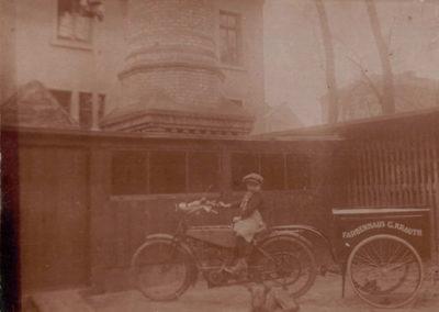 Historischer Fahrrad-Lieferservice